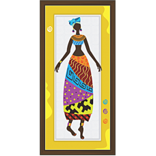 African Modern Art Paintings (A-6983)
