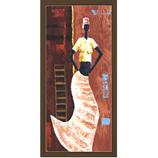 African Modern Art Paintings (A-6990)
