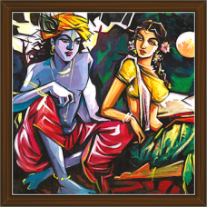Radha Krishna Paintings (RK-2240)