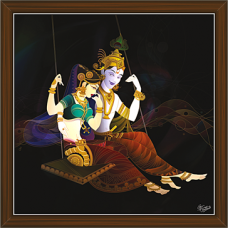 Radha Krishna Paintings (RK-2262)