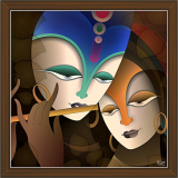 Radha Krishna Paintings (RK-2280)