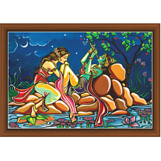 Radha Krishna Paintings (RK-9327)