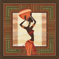 African Modern Art Paintings (AS-7921)